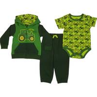 John Deere Infant Boys' Green Long Sleeve 3-Piece Tractor Pants Set from Blain's Farm and Fleet