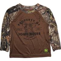 John Deere Toddler Boys' Brown Long Sleeve Property Of Tee from Blain's Farm and Fleet