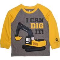 John Deere Toddler Boys' Grey Long Sleeve I Can Dig It Tee from Blain's Farm and Fleet