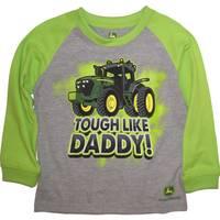 John Deere Toddler Boys' Green Long Sleeve Tough Like Daddy Tee from Blain's Farm and Fleet