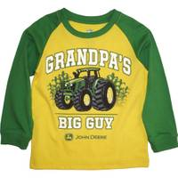 John Deere Toddler Boys' Yellow Long Sleeve Grandpa's Big Guy Tee from Blain's Farm and Fleet