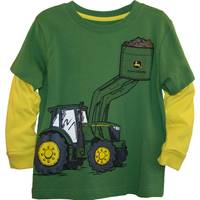 John Deere Toddler Boys' Green & Yellow Long Sleeve Tractor Pocket Tee from Blain's Farm and Fleet