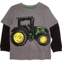 John Deere Toddler Boys' Grey Long Sleeve Big Tractor Tee from Blain's Farm and Fleet