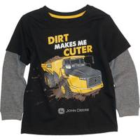 John Deere Toddler Boys' Black Long Sleeve Dirt Makes Me Cuter Tee from Blain's Farm and Fleet