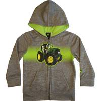 John Deere Toddler Boys' Grey Tractor Spray Fleece Hoodie from Blain's Farm and Fleet