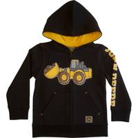 John Deere Toddler Boys' Black Construction Fleece Zip Hoodie from Blain's Farm and Fleet
