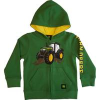 John Deere Toddler Boys' Green Tractor Fleece Zip Hoodie from Blain's Farm and Fleet