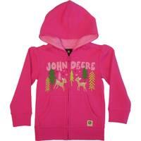 John Deere Toddler Girls' Magenta John Deere Zip Fleece from Blain's Farm and Fleet