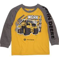 John Deere Little Boys' Grey Grey & Yellow Long Sleeve Work Zone Tee from Blain's Farm and Fleet
