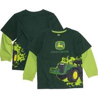 John Deere Little Boys' Green Long Sleeve Tractor Wrap Tee from Blain's Farm and Fleet