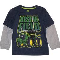 John Deere Little Boys' Navy & Grey Long Sleeve Best In Field Tee from Blain's Farm and Fleet