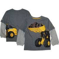 John Deere Little Boys' Grey Long Sleeve Front Loader Tee from Blain's Farm and Fleet