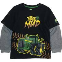 John Deere Little Boys' Black Long Sleeve There Will Be Mud Tee from Blain's Farm and Fleet