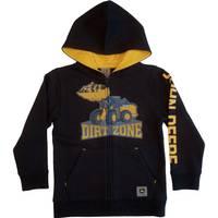 John Deere Little Boys' Black Dirt Zone Fleece Zip Hoodie from Blain's Farm and Fleet