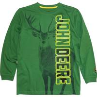 John Deere Big Boys' Green Long Sleeve Buck Tee from Blain's Farm and Fleet