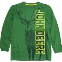 John Deere Big Boys' Green Long Sleeve Buck Tee from Blain's Farm and Fleet
