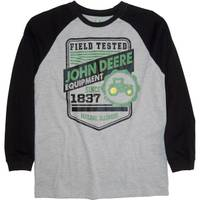 John Deere Big Boys' Heather Grey Long Sleeve Field Tested Tee from Blain's Farm and Fleet