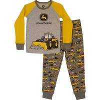 John Deere Little Boys' Grey & Yellow Under Construction Pajamas from Blain's Farm and Fleet