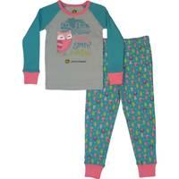 John Deere Toddler Girls' Turquoise Barn Owl Pajamas from Blain's Farm and Fleet
