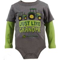 John Deere Infant Boys' Green Long Sleeve Like Grandpa Bodysuit from Blain's Farm and Fleet