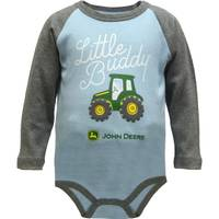 John Deere Infant Boys' Blue Long Sleeve Little Buddy Bodysuit from Blain's Farm and Fleet