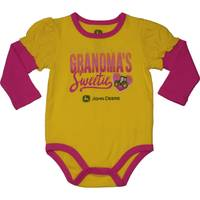 John Deere Infant Girls' Yellow Long Sleeve Grandma's Sweetie Bodysuit from Blain's Farm and Fleet