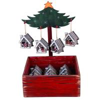 Transpac Plywood House Ornament Assortment from Blain's Farm and Fleet