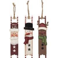 Transpac Wood Christmas Character Ornament Assortment from Blain's Farm and Fleet