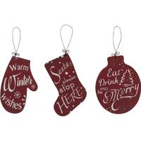 Transpac Wood Christmas Shaped Ornament Assortment from Blain's Farm and Fleet