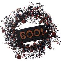 Transpac Imports Inc. Halloween BOO Wreath from Blain's Farm and Fleet