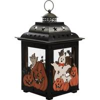 Transpac Imports Inc. Large Metal/Plywood Halloween Lantern from Blain's Farm and Fleet