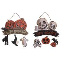Transpac Imports Inc. Transpac Plywood Halloween Greeting Sign Assortment from Blain's Farm and Fleet