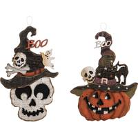 Transpac Imports Inc. Plywood Spooky Head Decor Assortment from Blain's Farm and Fleet
