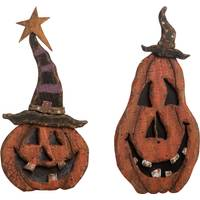 Transpac Imports Inc. Small Plywood Jack-O-Lantern Pumpkin Assortment from Blain's Farm and Fleet