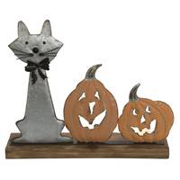 Transpac Imports Inc. Metal Cat with Pumpkin Candle Holder from Blain's Farm and Fleet