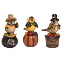Transpac Imports Inc. Res Bird Pilgrim Shelf Sitter Assortment from Blain's Farm and Fleet