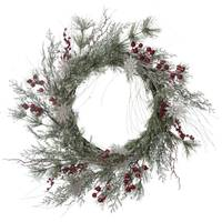 Transpac Berry and Snowflake Wreath from Blain's Farm and Fleet