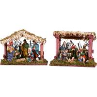 Transpac Wood & Ceramic Nativity with Creche Assorted from Blain's Farm and Fleet