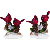 Transpac Resin Cardinal Figure on Pinecone Assortment from Blain's Farm and Fleet