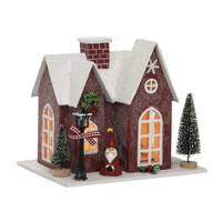 Transpac Plywood Light Up Christmas House from Blain's Farm and Fleet