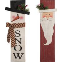 Transpac Wood Santa/Snowman Wall Decor Assortment from Blain's Farm and Fleet