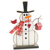 Caffco International Wood Snowman with BirdHouse from Blain's Farm and Fleet