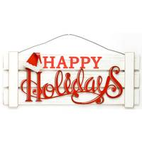 Caffco International Happy Holidays Wood Sign from Blain's Farm and Fleet