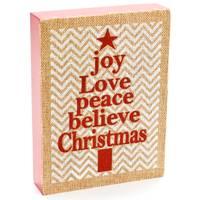 Caffco International Joy, Love, Peace Wood Block from Blain's Farm and Fleet