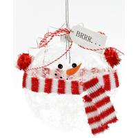 Caffco International Snowman witth Scarf Glass Ornament from Blain's Farm and Fleet