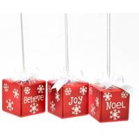 Caffco International Red Gift Box Ornament Assortment from Blain's Farm and Fleet