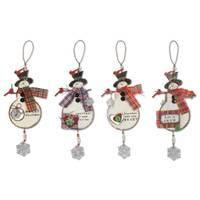 Sunset Vista Designs Northwoods Snowman Ornament Assortment from Blain's Farm and Fleet
