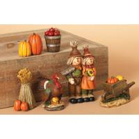 Gerson International Set of 6 Harvest Figurines from Blain's Farm and Fleet