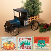 Gerson International Metal Antique Truck with 3 Seasonal Magnets from Blain's Farm and Fleet