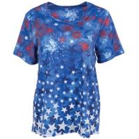 Erika Women's Short Sleeve Stars and Scrolls T-Shirt from Blain's Farm and Fleet